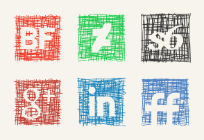 Pen Sketch Icons Set