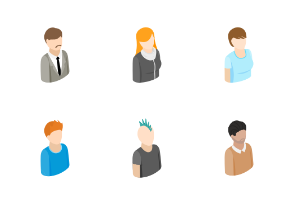 People - isometric