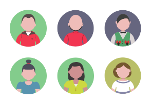 People round icons