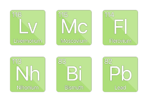 Periodic Elements - Basic Metals, Semi-Metals, & Non-Metals