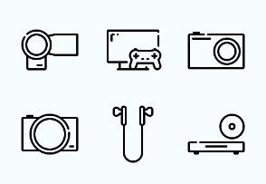 Phone and Gadget outline