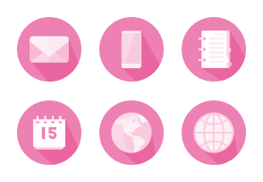 Pink Business Icons