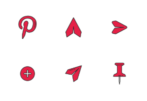 Pinterest UI - Colored