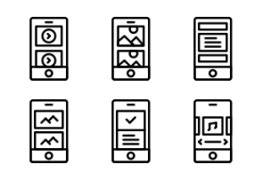 Prettycons - UI Mobile Vol.3 - Outline