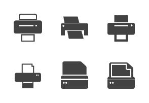Printers Glyph (Black)