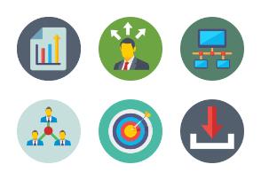 Project Management Flat Circular