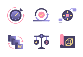 Project Management Flat Colors