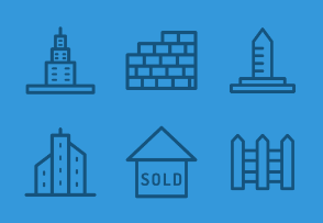 Real Estate and houses icons