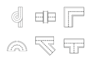Road elements parts - Outline