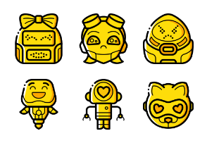 Robot Avatars - Yellow