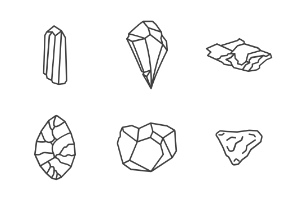 Rocks, stones and crystals