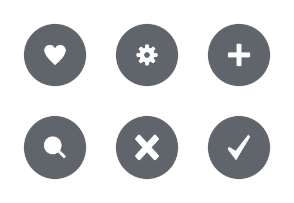 Round UI Buttons