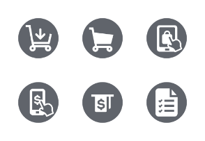 Shopping & E-Commerce Rounded Solid icons Set