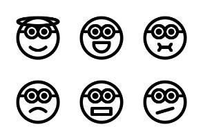 Roundome Minion emoji (Line)