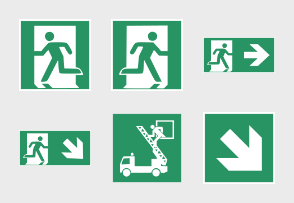 ISO 7010 Safety First Green Signs