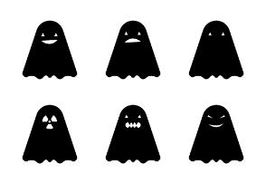 Scary Halloween - Ghosts Pumpkins & Skulls
