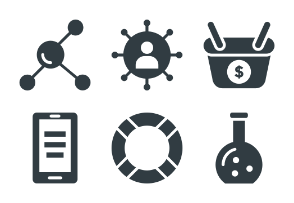 SEO and Internet Marketing Glyphs 2
