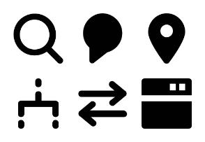 Seo and Marketing Glyph