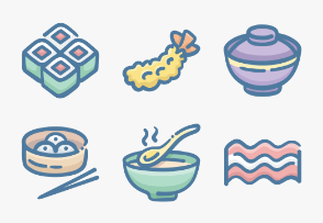 Set.04 Food Colors Doodle
