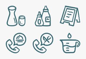 Set.04 Food Outline Doodle