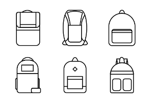 Set of Various Bags