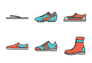 Shoe icon Set