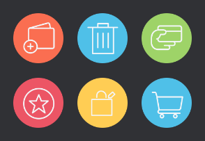 Shopping and Finance Icons