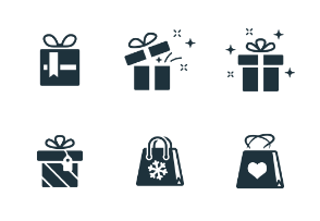 Gift Boxes & Shopping Bags (Glyph)