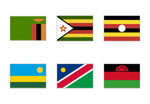 Simplified Africa Flags