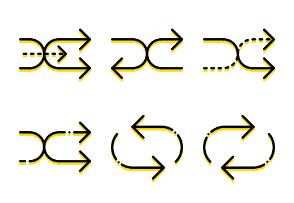 Smashicons Arrows - Yellow - Vol 2