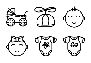 Smashicons Baby - Outline