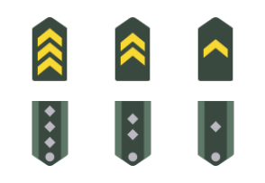 Smashicons Badges & Army - Flat - Vol 1