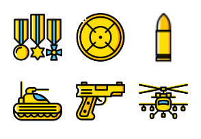 Smashicons Badges & Army - Yellow - Vol 2