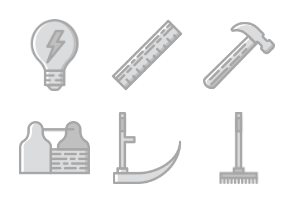Smashicons Construction - Greyscale - Vol 4