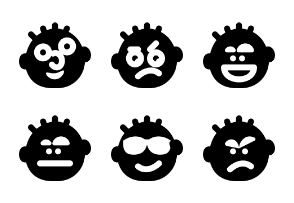 Smashicons Emoticons MD - Solid - Vol 2