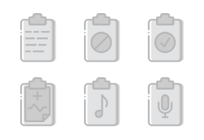 Smashicons Files & Folders - Greyscale - Vol 1