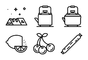 Smashicons Gastronomy 2 - Outline - Vol 1