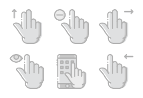 Smashicons Hand Gestures - Greyscale - Vol 1