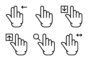 Smashicons Hand Gestures - Outline - Vol 2
