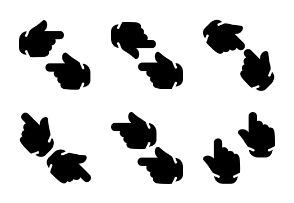 Smashicons Hand Gestures - Solid - Vol 4