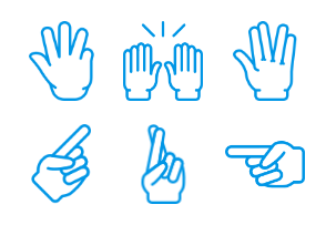 Smashicons Hand Gestures - Webby - Vol 4