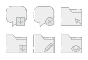 Smashicons Interactions - Greyscale - Vol 3