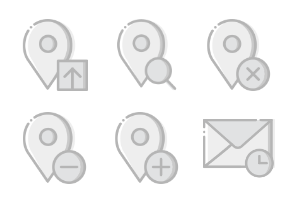 Smashicons Interactions - Greyscale - Vol 8
