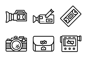 Smashicons Photography & Video - Outline - Vol 1