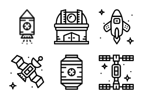 Smashicons Space 2 - Outline