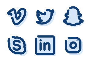 Social and online logos