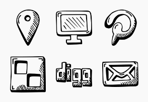 Social - Hand Drawn Icons