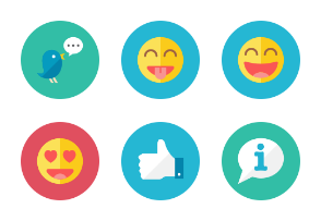 Social Icons - Rounded