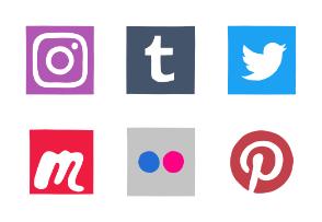 Social Media - Sharp Multicolor