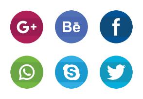 Social Media Filled Circle